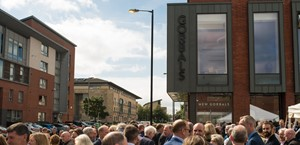 News Item: Nicola Sturgeon opens Gorbals piazza, new homes and office